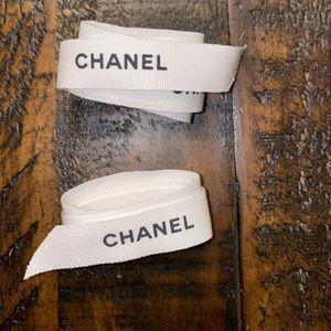 CHANEL Accessories - 2 Chanel ribbons. Different sizes.